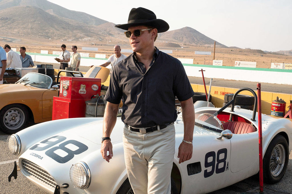 "Matt Damon plays legendary car guy Carroll Shelby in ""Ford v Ferrari,"" a dramatization of how the American automaker took on the Italians on their own racing turf — and won. (20th Century Fox)"