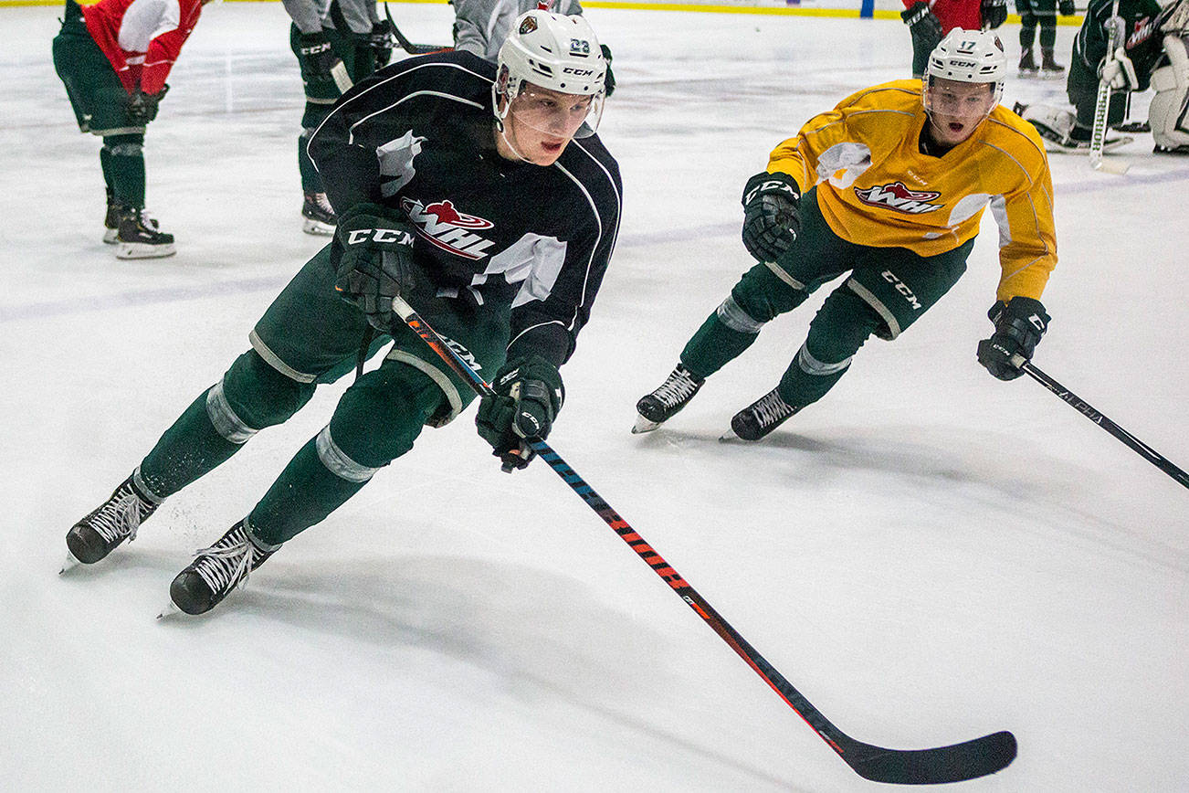 Silvertips' Conrad Mitchell back in saddle after brief scare