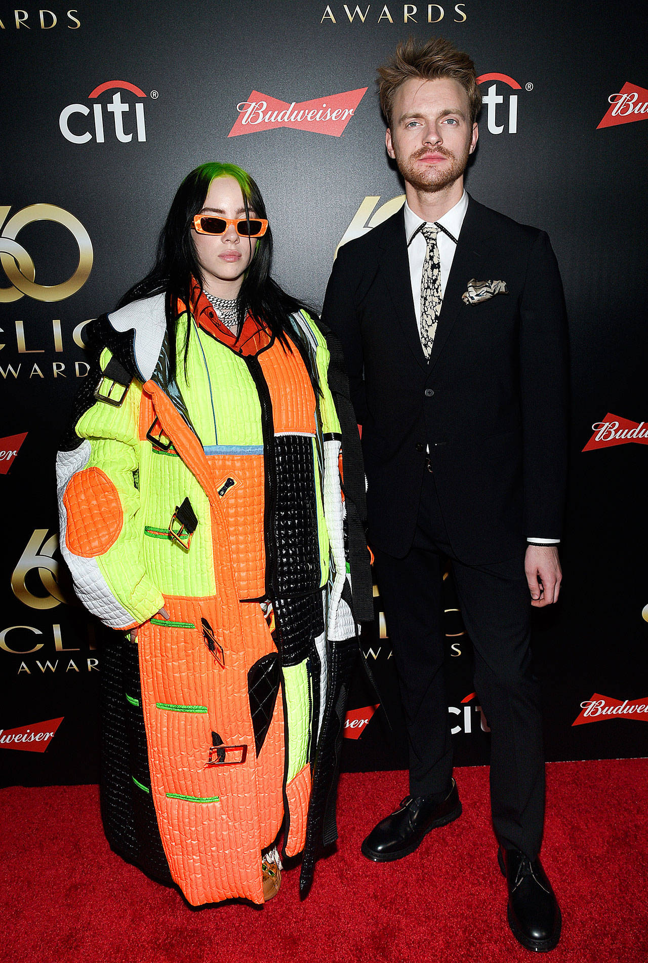 Billie Eilish earned six Grammy nominations on Nov. 20, and Finneas O'Connell, her brother-producer-engineer, earned five nominations. (Associated Press file)