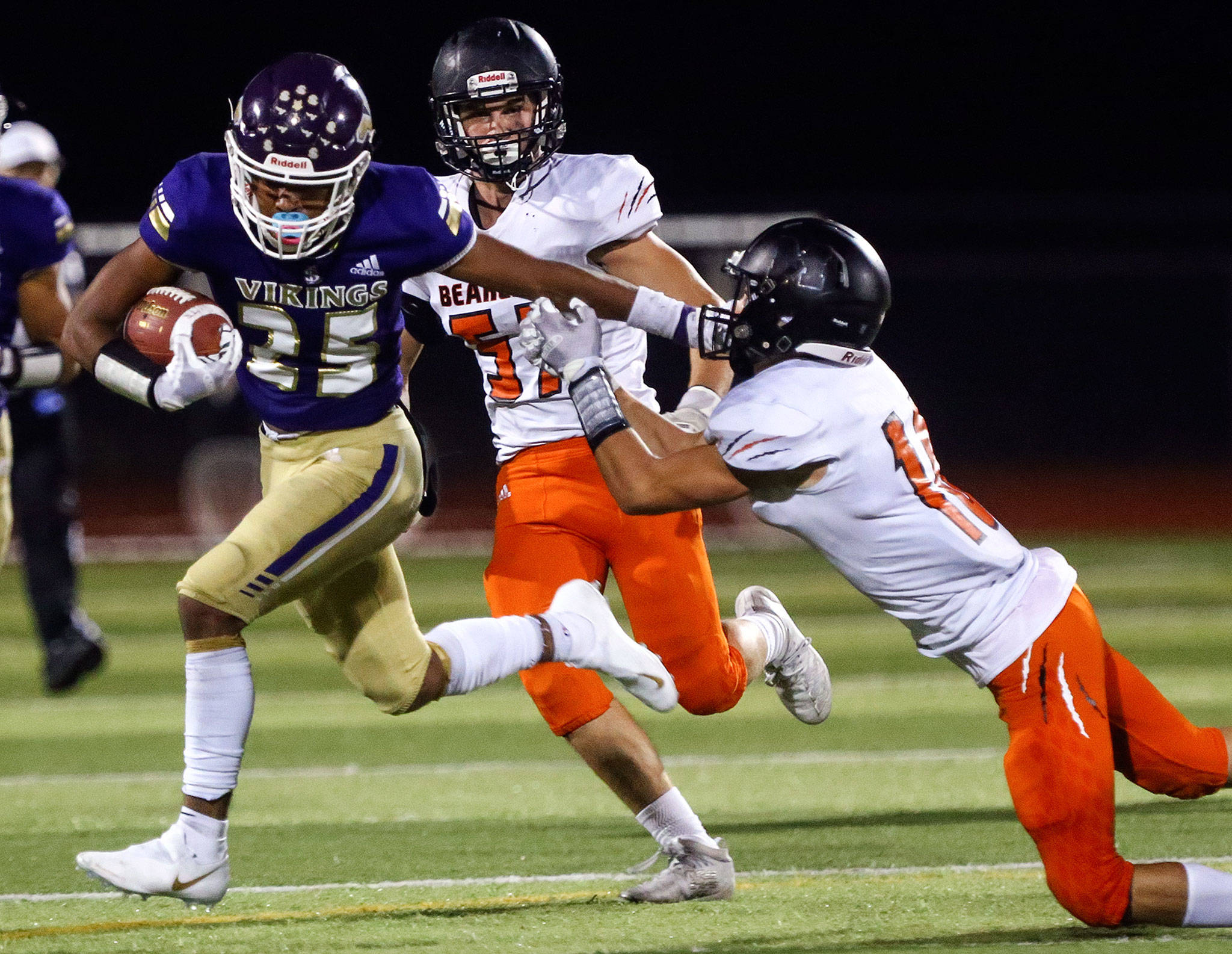 Lake Stevens obliterated opponents nearly all season, winning its first 10 games by an average margin of 49.5 points. (Kevin Clark / The Herald)
