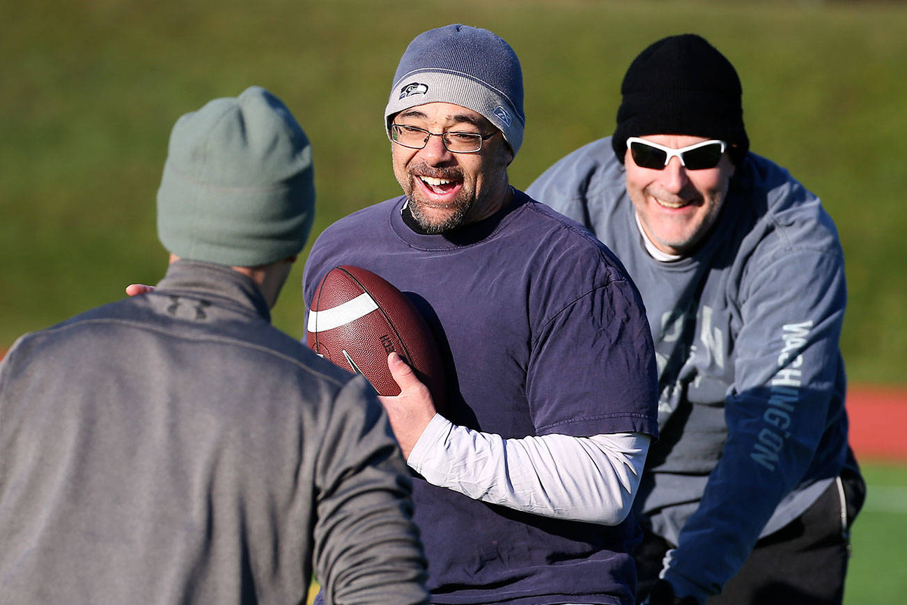 Football and friendship: You could call this Turkey Bowl XXV