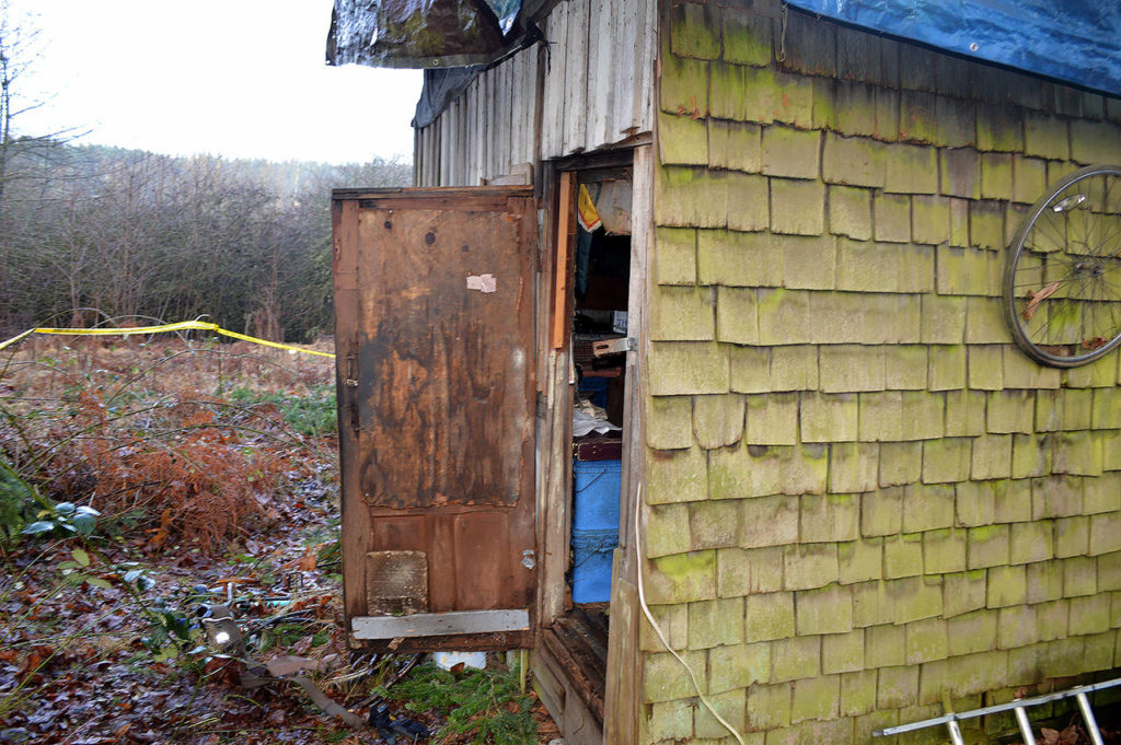In January 2015, an unidentified man's body was found in this shed behind a home in Mill Creek. (Snohomish County Medical Examiner's Office)