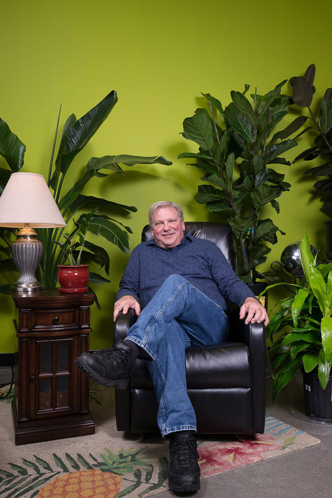Steve Compton co-owns Houseplants Galore on Everett Mall Way, which opened in July. (Andy Bronson / The Herald)