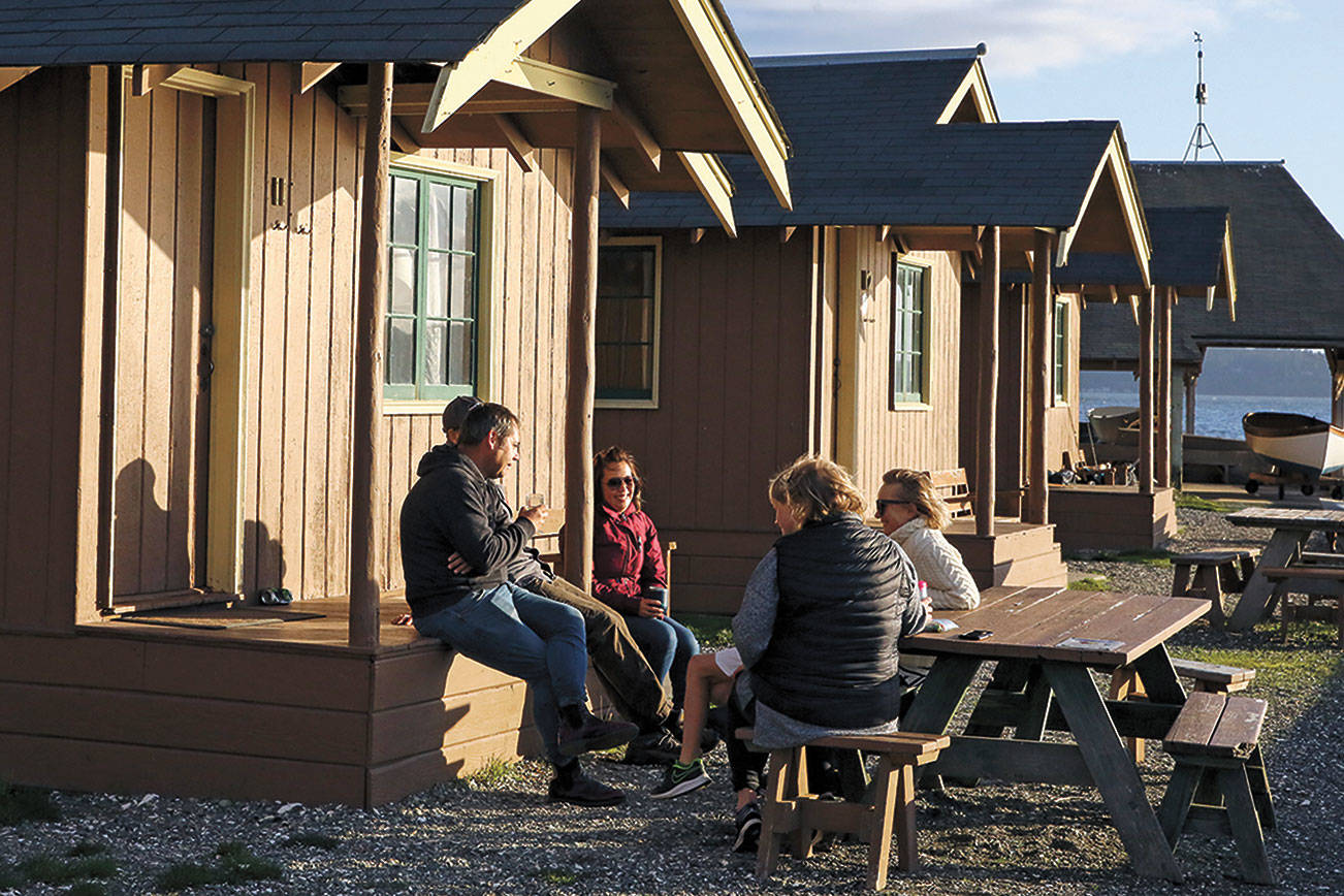 Find comfort in cabins and yurts when camping in the cold