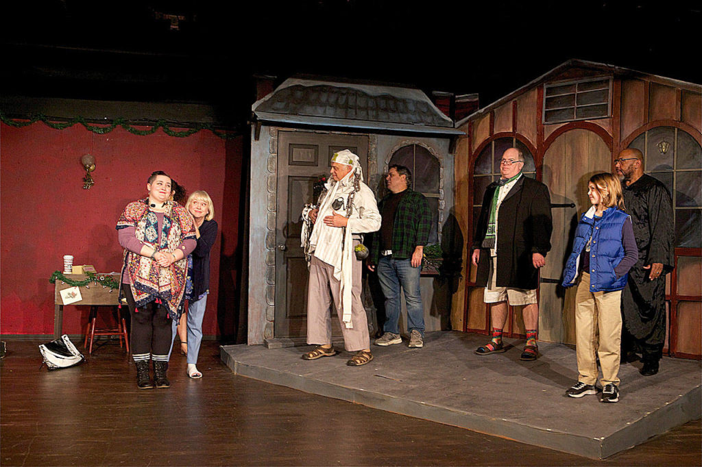 """Inspecting Carol"" follows a struggling theater's clumsy production of ""A Christmas Carol."" (James Sipes)"