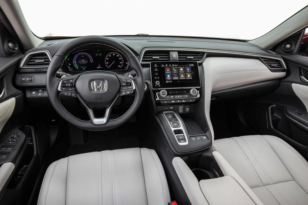 EX and Touring trims of the 2020 Honda Insight hybrid sedan have an 8-inch display audio system with Android Auto and Apple CarPlay integration. (Honda)