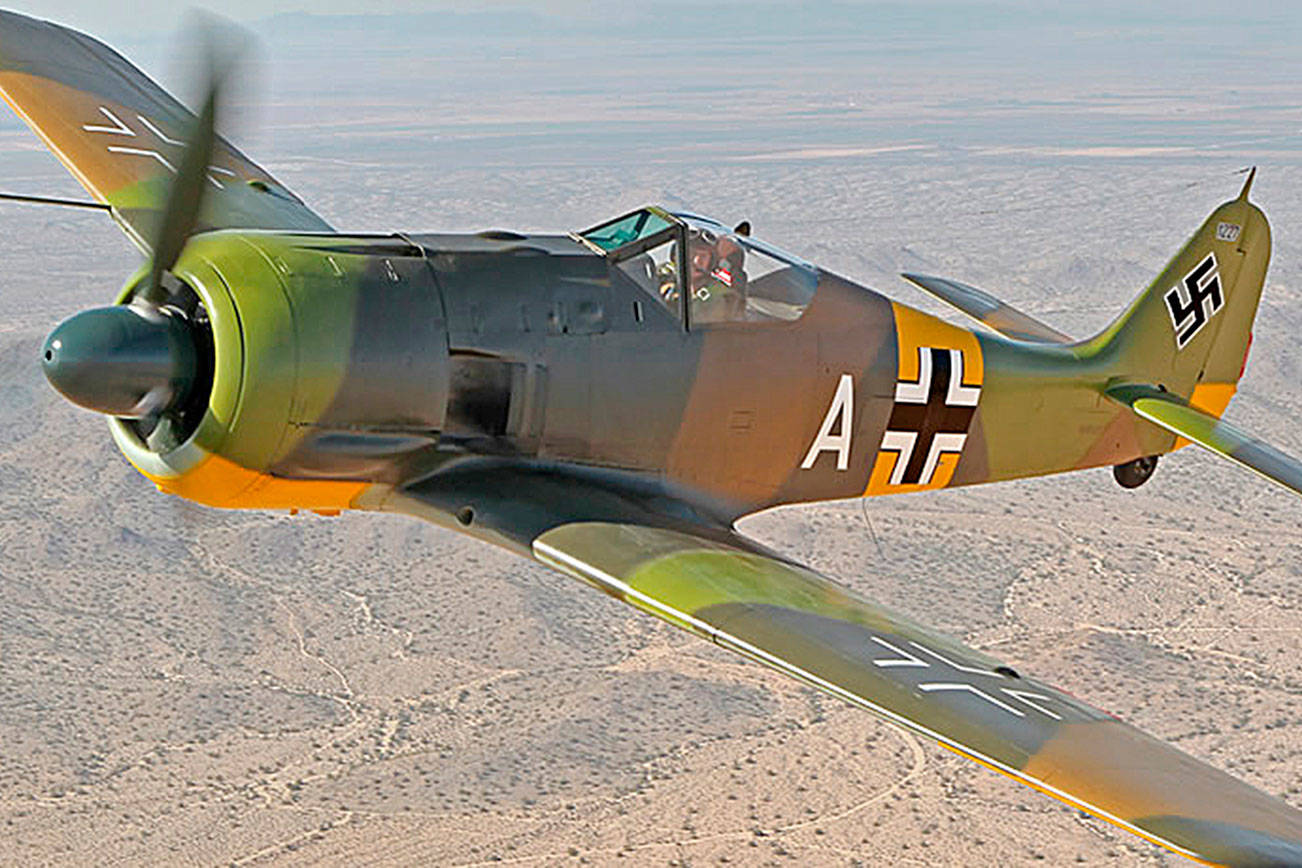 The Flying Heritage & Combat Armor Museum is hosting a tour and 30-minute talk about the Focke-Wulf 190 A-5 on Jan. 11 in Everett. The German fighter plane from World War II was one of the most feared in the war and the most advanced of its time. (Flying Heritage & Combat Armor Museum)