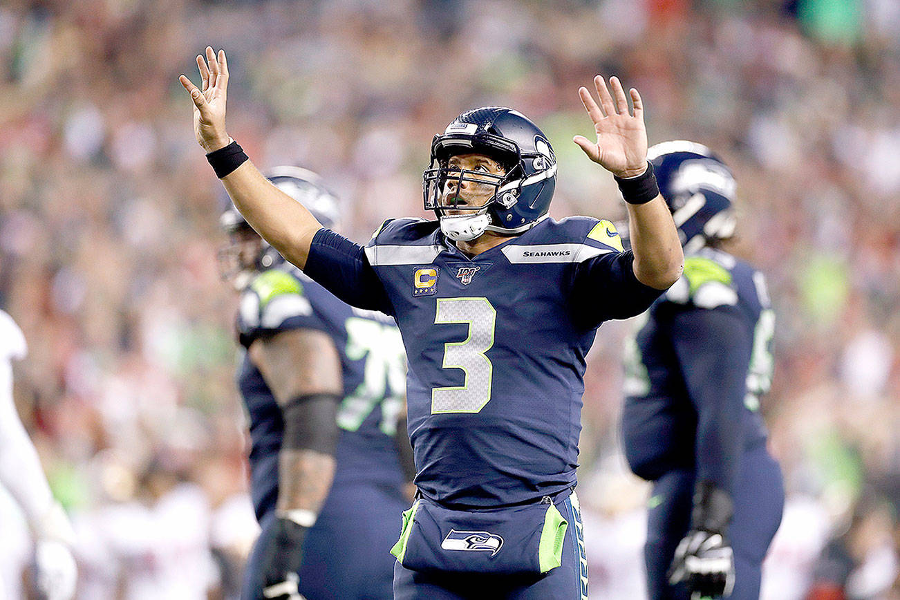 Russell Wilson and the Seattle Seahawks had a crazy 2019 season. (AP Photo/Greg Trott)