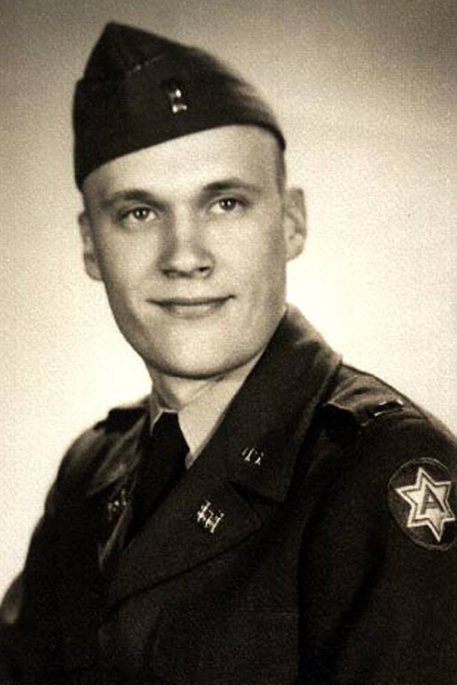 "Richard ""Dick"" Prouty served 1952-54 in the Korean War."