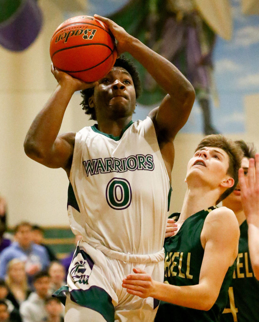 Edmonds-Woodway defeated Marysville Getchell 60-57 Friday evening at Edmonds-Woodway High School. (Kevin Clark / The Herald)
