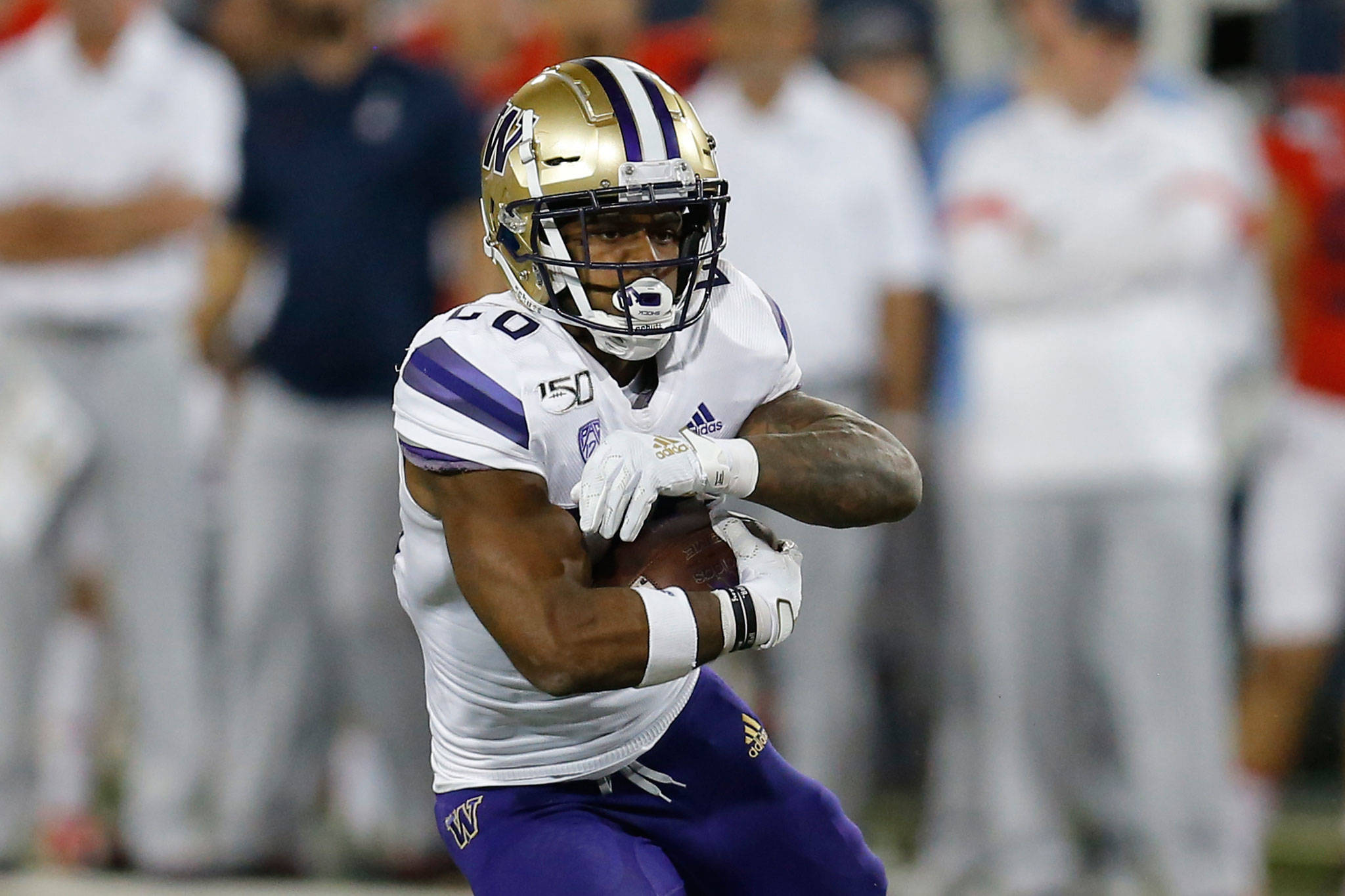 Washington wide receiver Ty Jones appeared in just four games last season due to a wrist/hand injury. (AP Photo/Rick Scuteri)