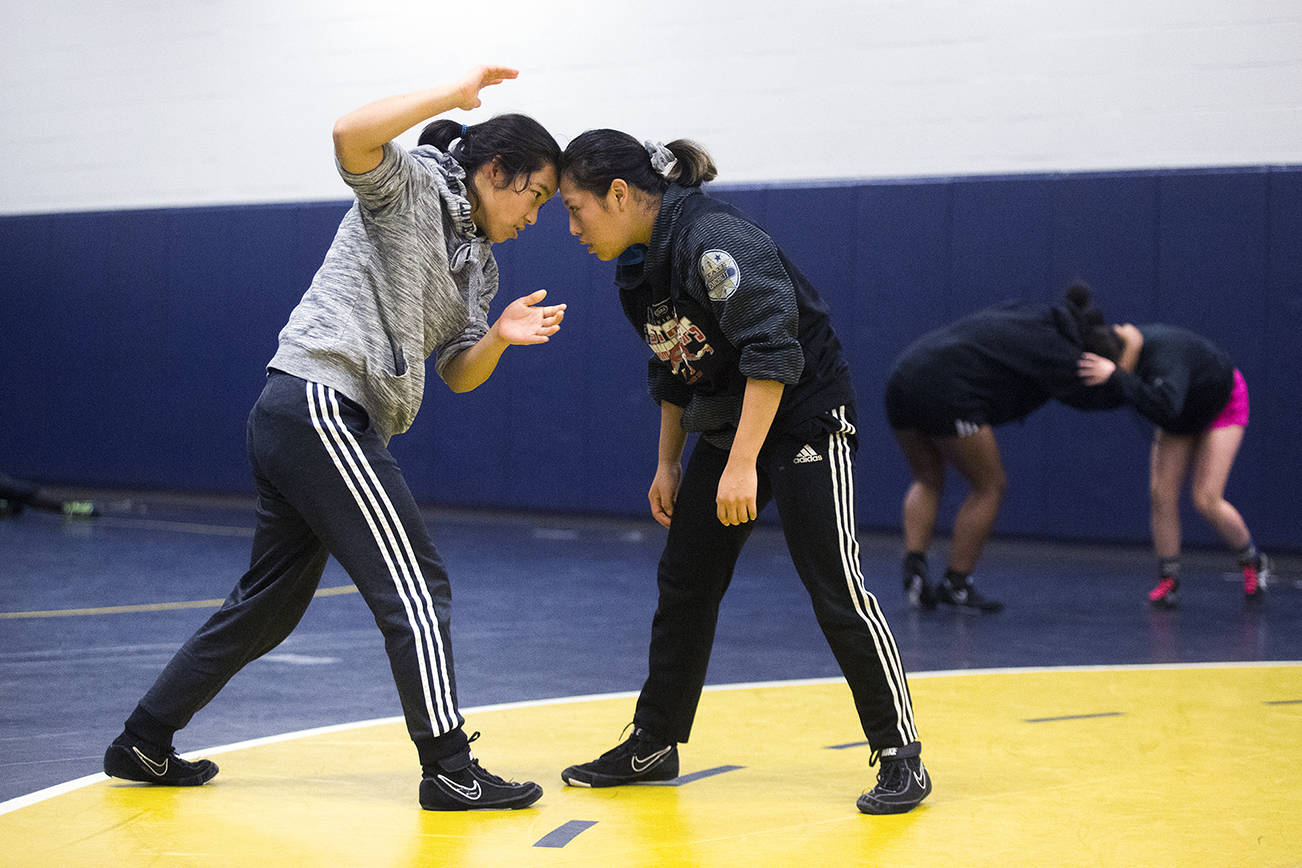 Everett High girls wrestling has remarkable global diversity