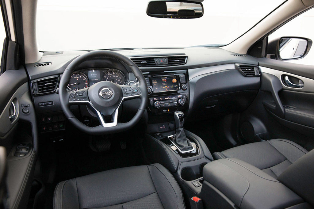 Front seats in the 2020 Nissan Rogue Sport compact crossover are exceptionally comfortable. (Manufacturer photo)