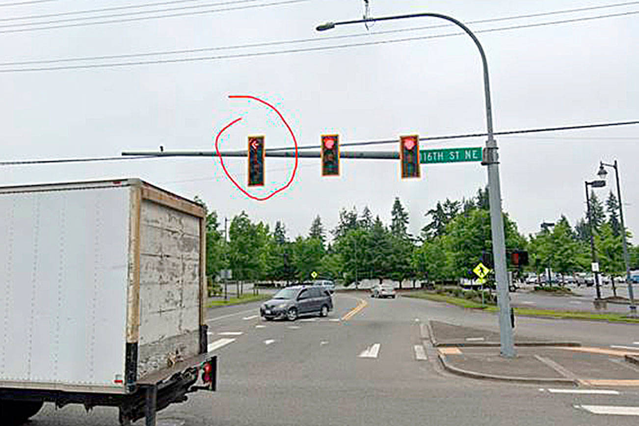 When other lights are red, what's a flashing yellow arrow mean?