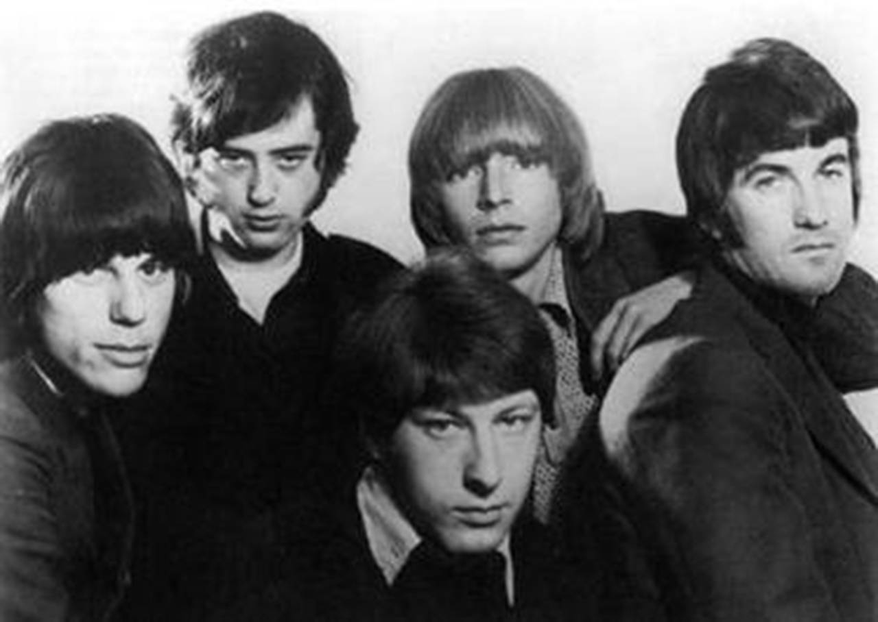 The Yardbirds in 1966: (from left) Jeff Beck, Jimmy Page, Chris Dreja, Keith Relf and Jim McCarty. McCarty, 76, is the only original member left in the band. (Wikipedia)