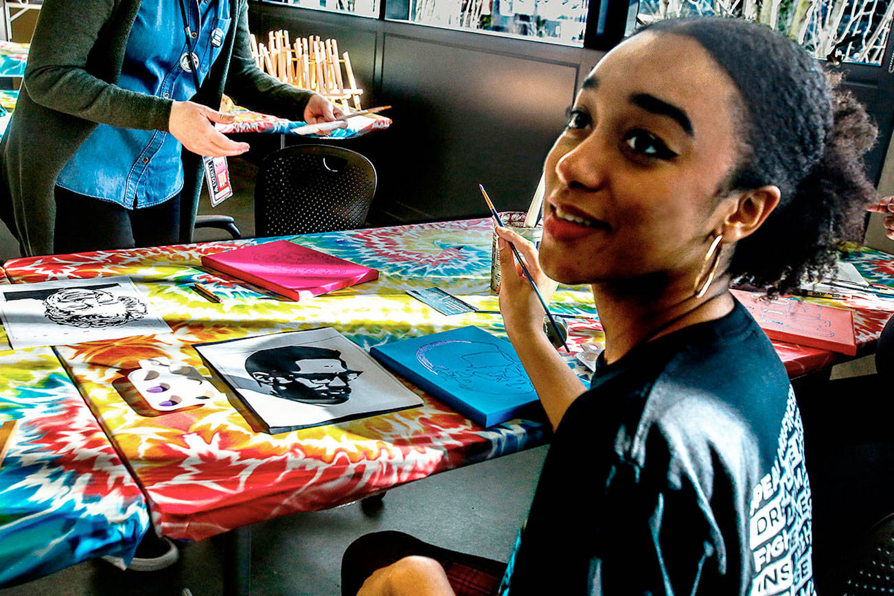 Greats become art in EvCC's African American history project