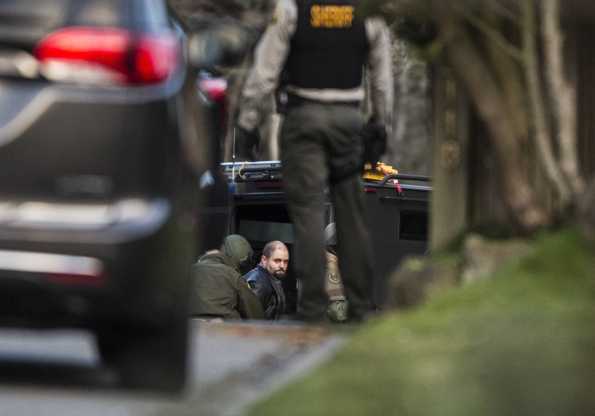 A 34-year-old man who barricaded himself in a home while armed was arrested Sunday near Lynnwood. (Olivia Vanni / The Herald)