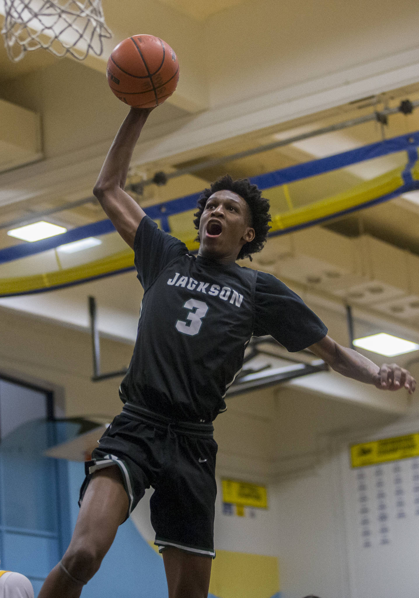 Jaylen Searles and the Jackson Timberwolves are among the nine local boys basketball teams playing in state regional games Friday or Saturday. (Olivia Vanni / The Herald).