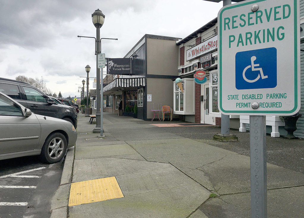 The City of Marysville is finalizing its self evaluation and Americans with Disabilities Act transition plan to address accessibility issues in its right of ways. That could mean more to-standard curb ramps and other features. (Ben Watanabe / The Herald)