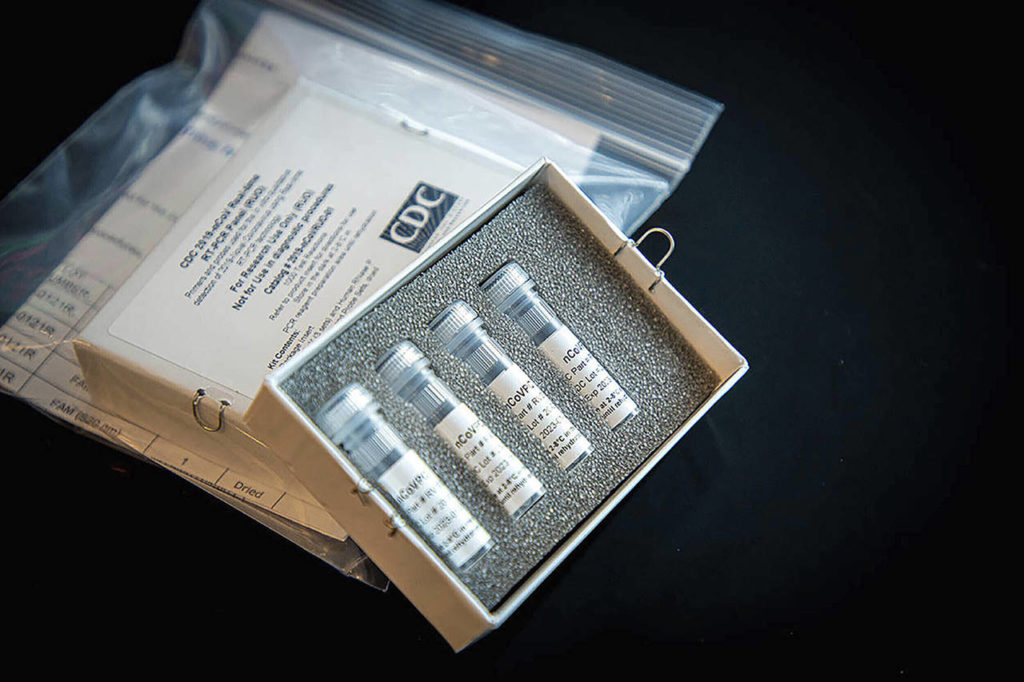 This undated file photo provided by U.S. Centers for Disease Control and Prevention shows CDC's laboratory test kit for the new coronavirus. (CDC via AP, File)
