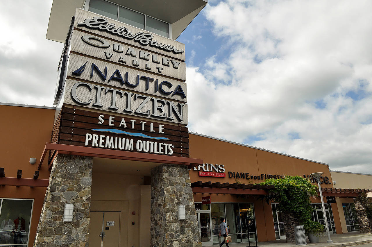 Seattle Premium Outlets is part of the Quil Ceda Village shopping center. (Sue Misao / The Herald)