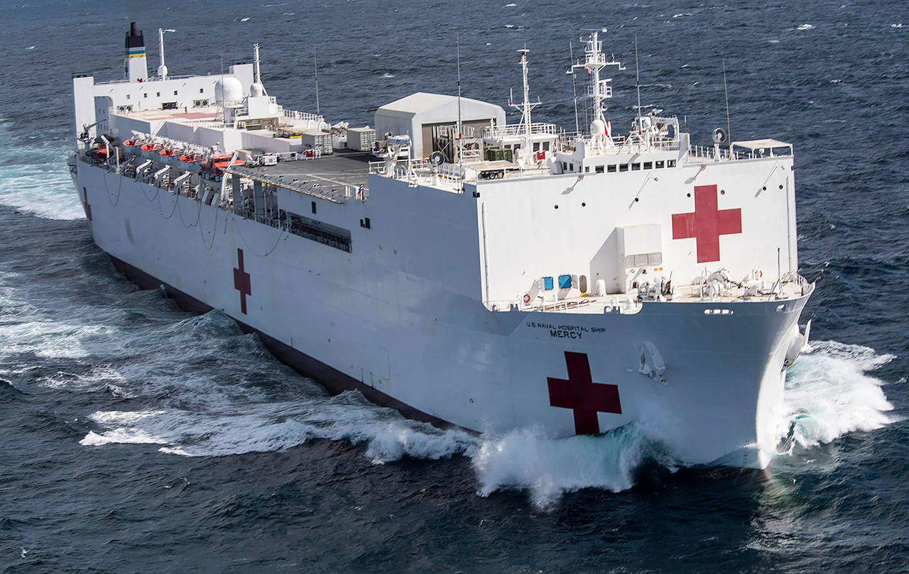 Gov. Inslee asked to have the USNS Mercy brought to Puget Sound because the region's medical infrastructure will likely be strained sooner than anywhere else in the nation. (Photo Courtesy of U.S. Naval Institute)