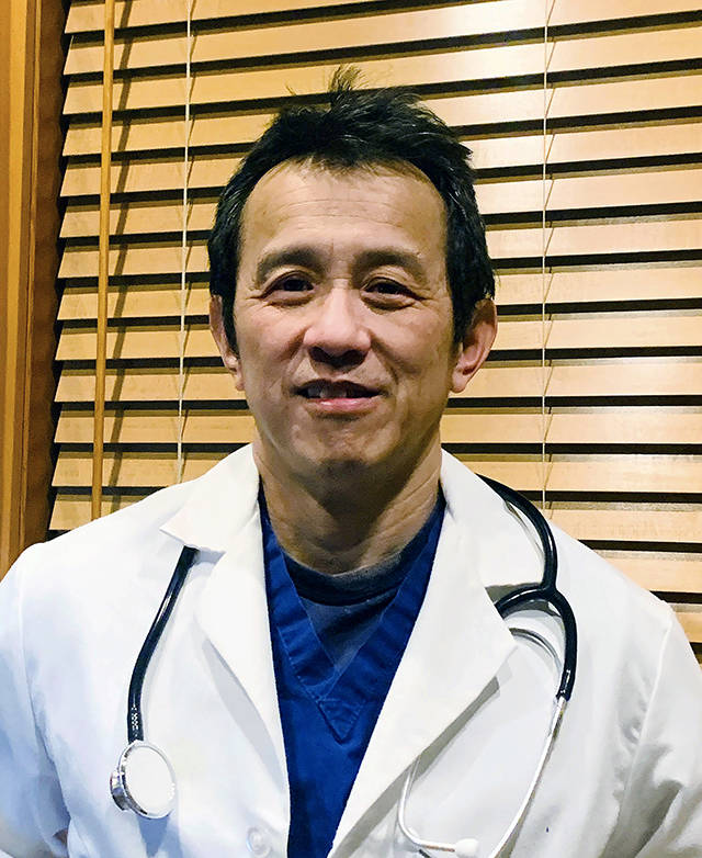 Dr. Ming Lin is an emergency room doctor at PeaceHealth St. Joseph Medical Center in Bellingham. (Dr. Ming Lin via AP)