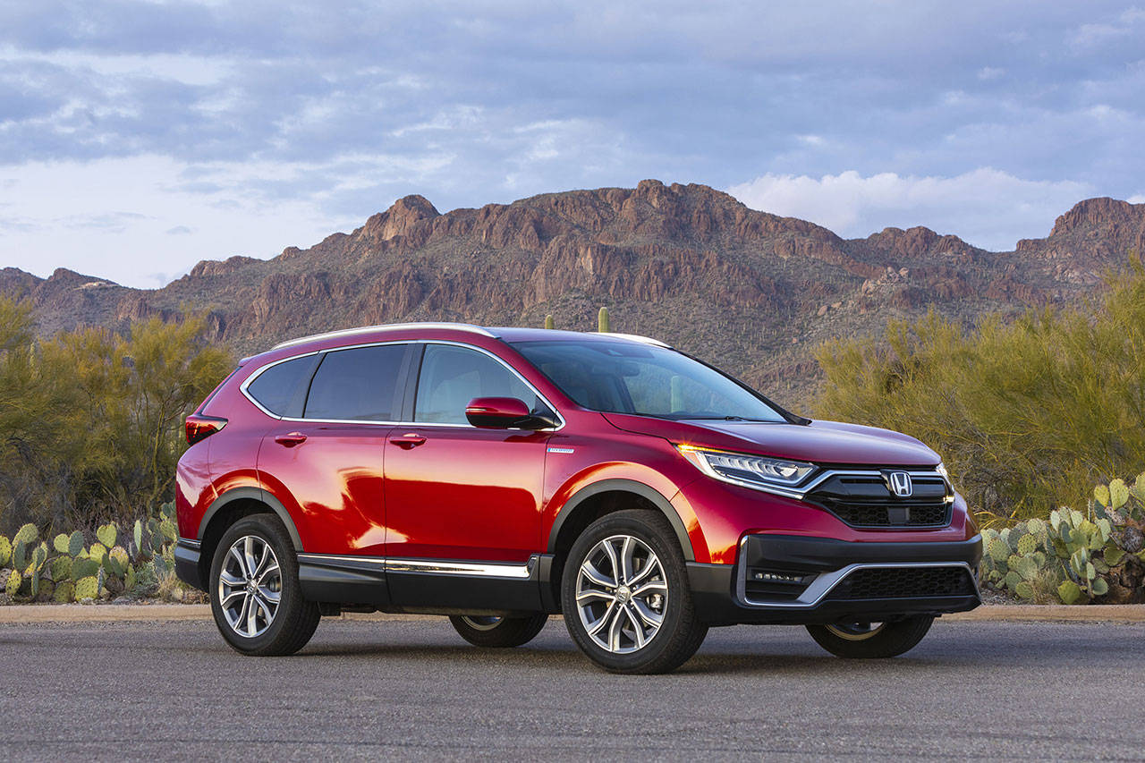 The 2020 Honda CR-V Hybrid has a combined output of 212 horsepower and 232 lb-ft of torque. (Manufacturer photo)