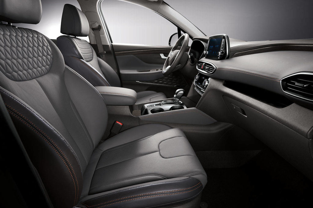 The 2020 Hyundai Santa Fe interior includes an abundance of useful stowage spots for smaller items. (Manufacturer photo)
