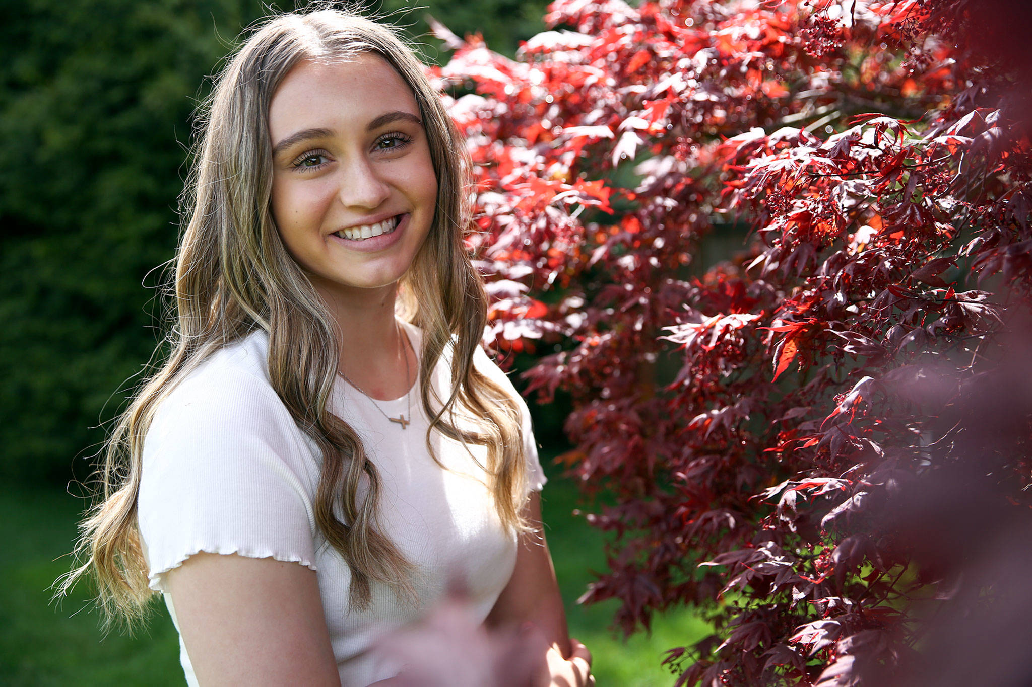 Emily Scott is a Glacier Peak senior, softball player and valedictorian. She plans to attend the University of Washington. (Kevin Clark / The Herald)