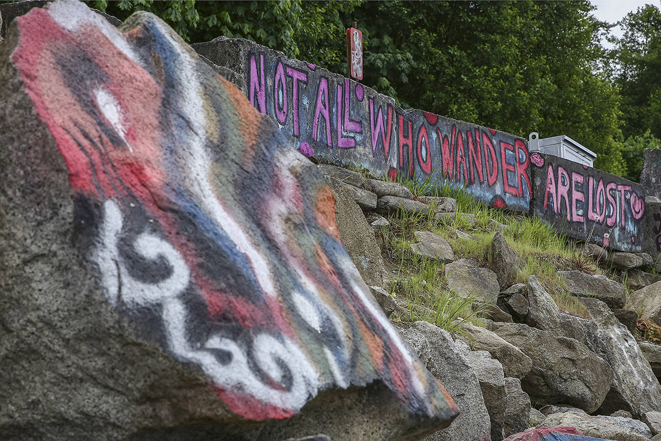 Vandalism or art? Graffiti rocks at Howarth Park