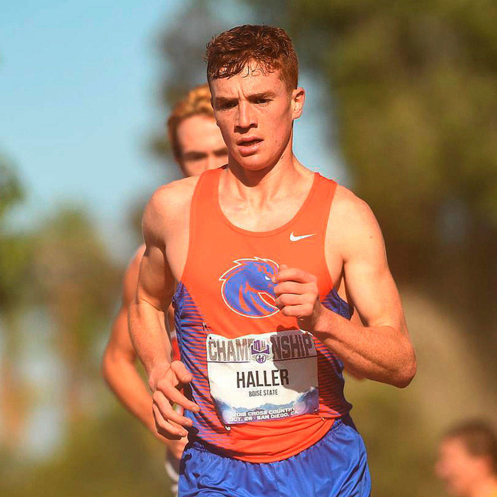 Miler Haller, coureur de Boise State, diplômé de l'Edmonds-Woodway High School. (Photo de l'état de Boise)