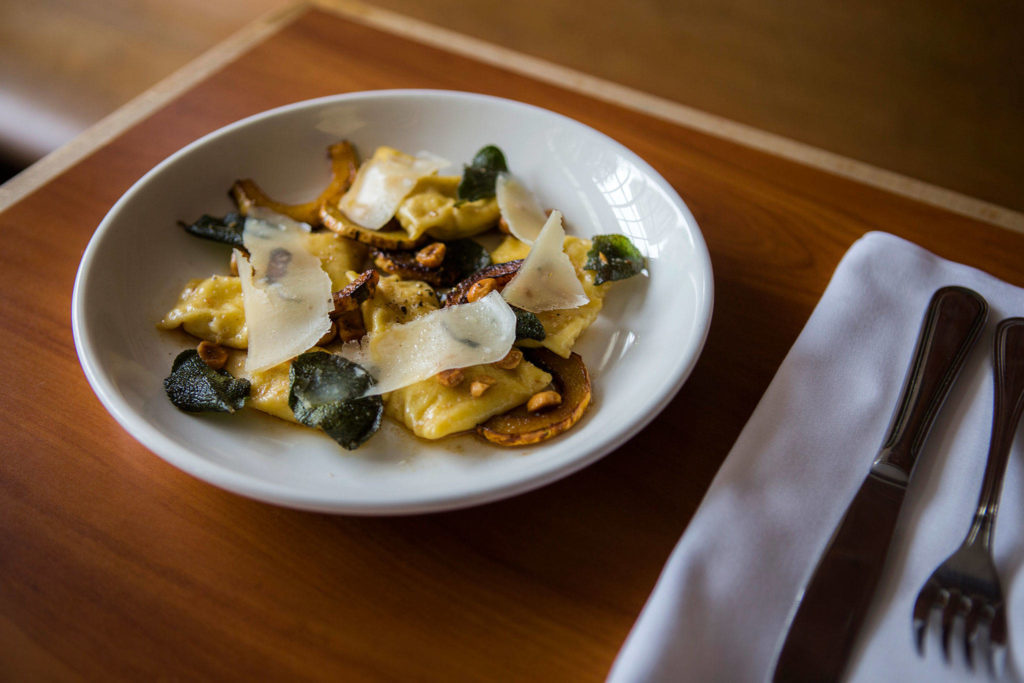 Capers + Olives' house-made pasta is the star of dishes like this. (Olivia Vanni / The Herald)