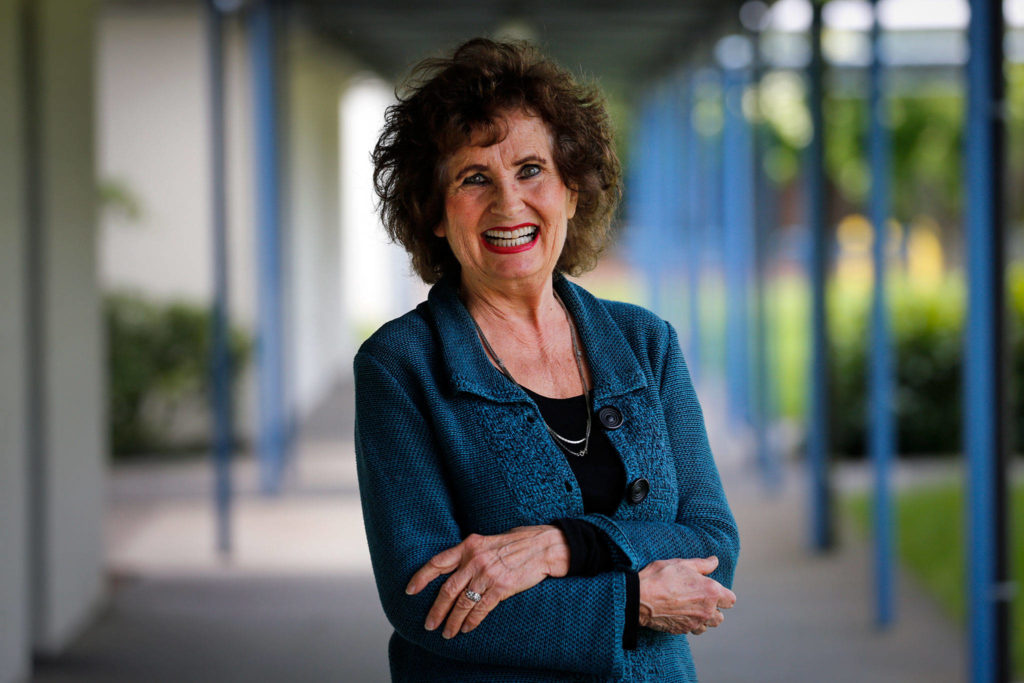 Pamela Bader is retiring after 54 years at the same school, Beverly Elementary in Lynnwood. (Kevin Clark / The Herald)