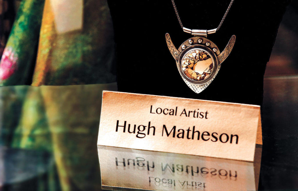 Judy Matheson's husband, Hugh, makes jewelry that can be purchased at the shop. (Dan Bates / The Herald)