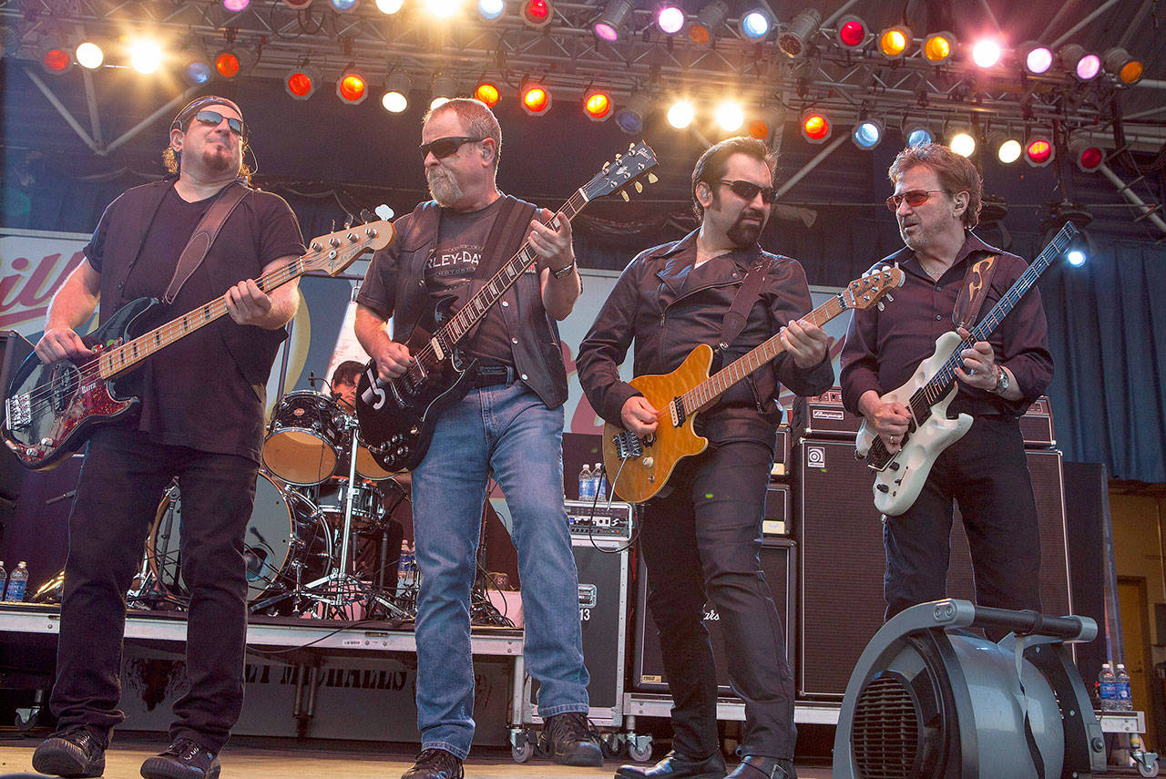 """Blue Oyster Cult's """"True Confessions,"""" a film of the band performing its """"Agents of Fortune"""" album in its entirety, will be screened July 28 at the Historic Everett Theatre. (Associated Press)"""