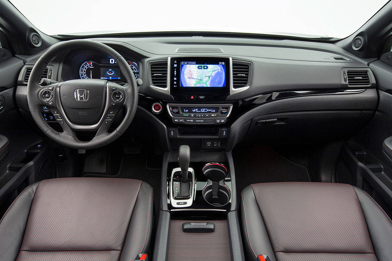 The Honda Ridgeline interior is roomy, comfortable, and meticulously put together. (Manufacturer photo)