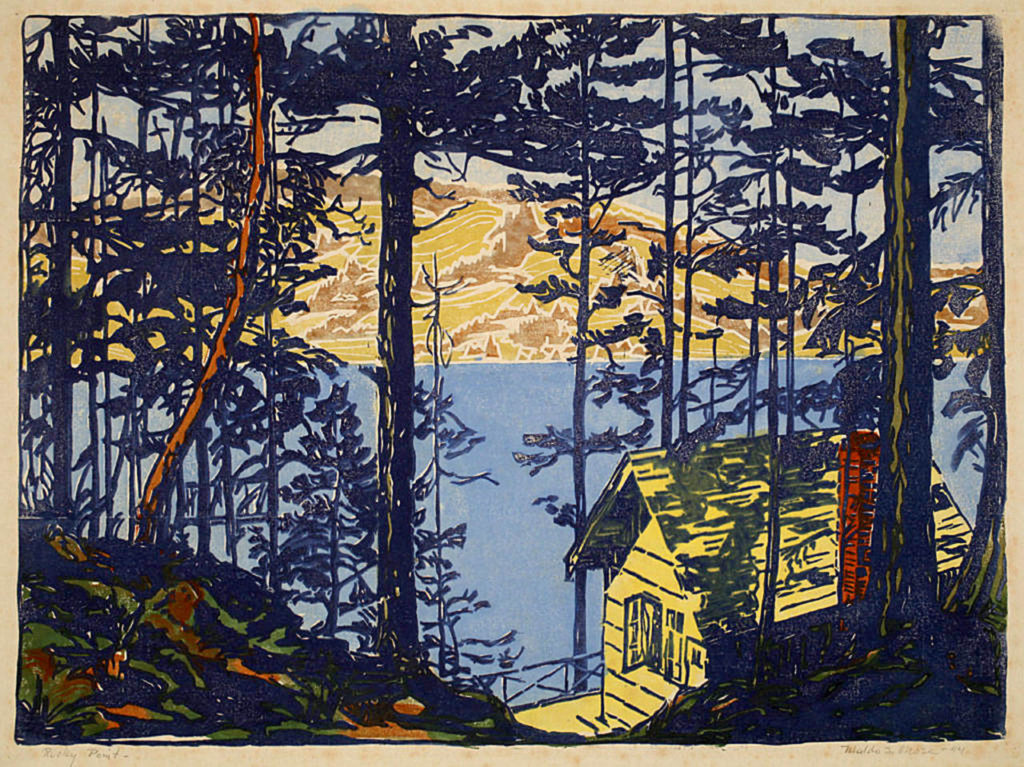 """""""Rocky Point"""" was made by Waldo S. Chase (1895-1988) in 1944."""