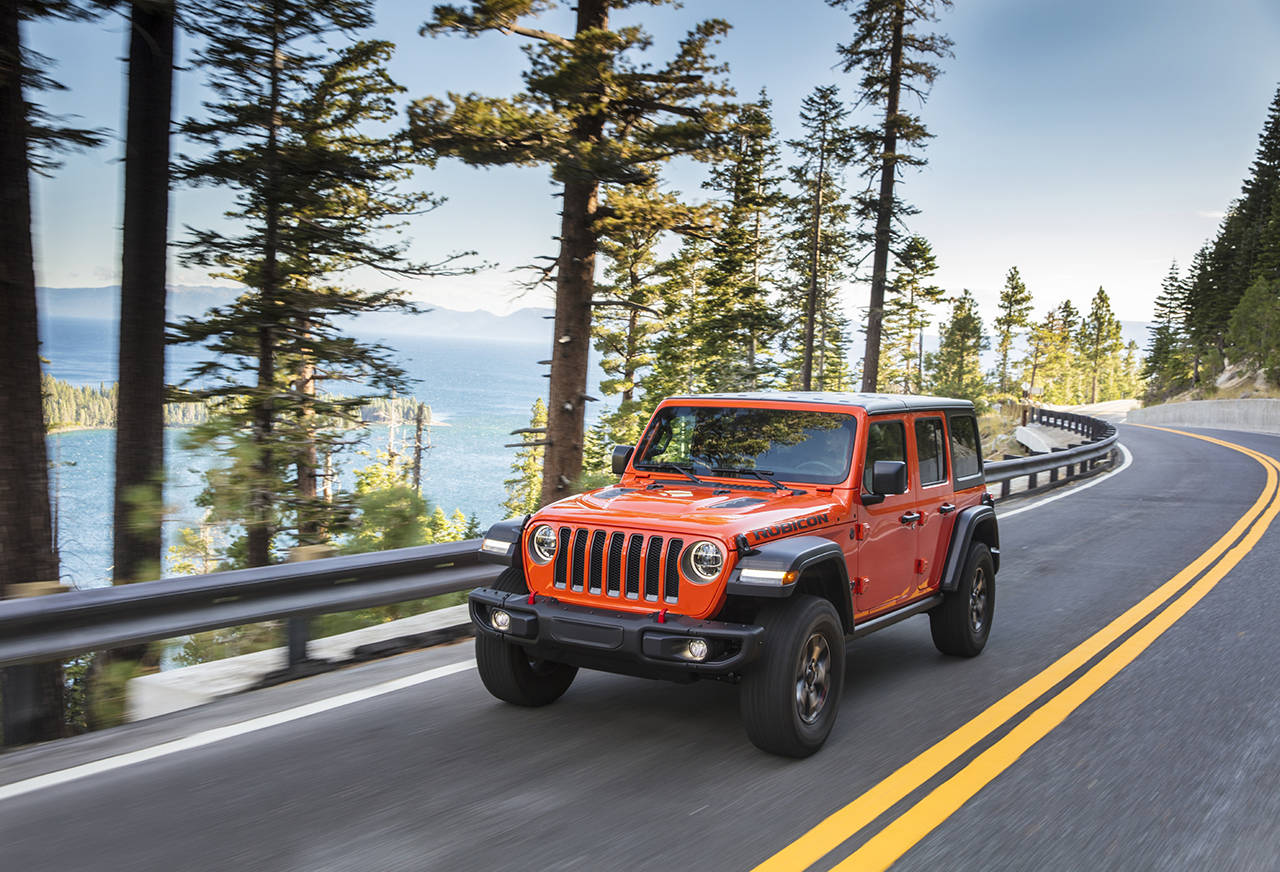 A new turbo EcoDiesel engine is available in the 2020 Jeep Wrangler Unlimited (four-door) models. (Manufacturer photo)