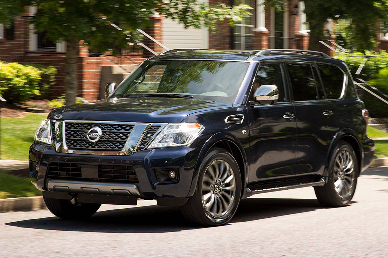 2020 Nissan Armada has V8 power with a gentle, quiet ride