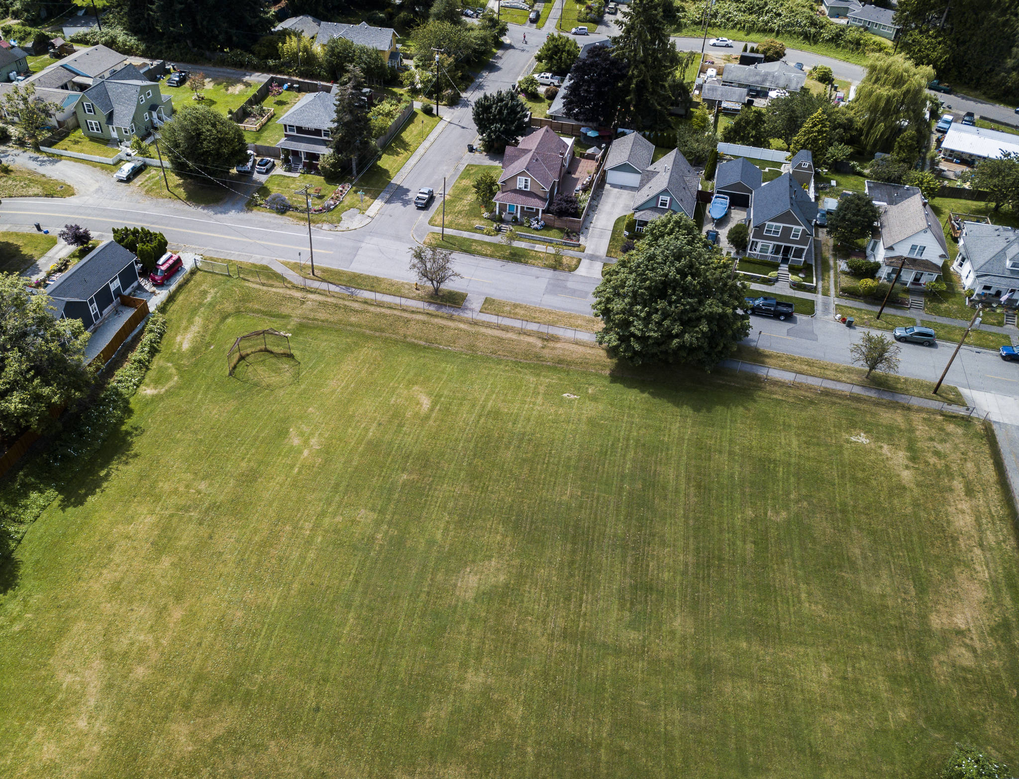 Norton Playfield is comprised of three acres owned by Housing Hope, which plans supportive housing for families who have kids in school. (Olivia Vanni / The Herald)