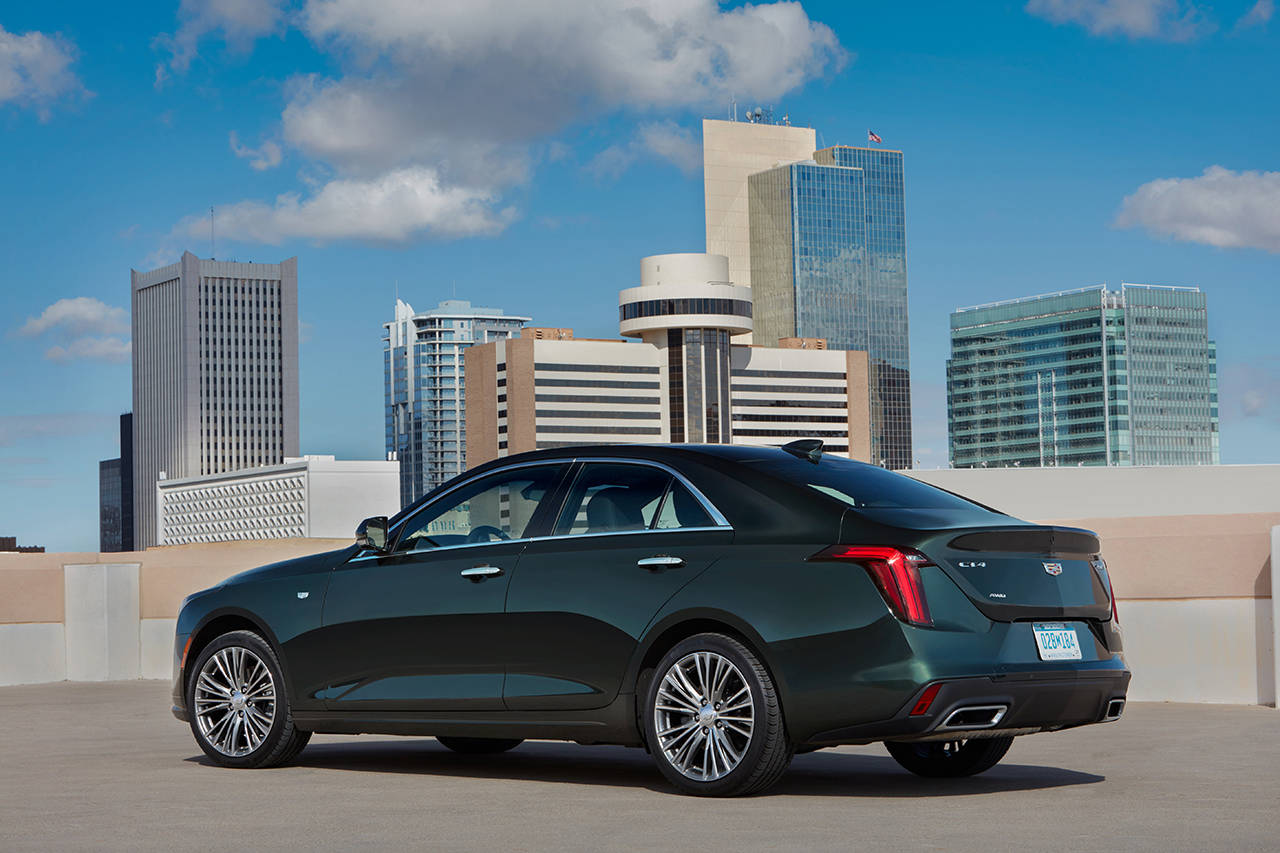 The 2020 Cadillac CT4 has seating for five passengers. Cargo space in the trunk is 10.7 cubic feet. (Manufacturer photo)