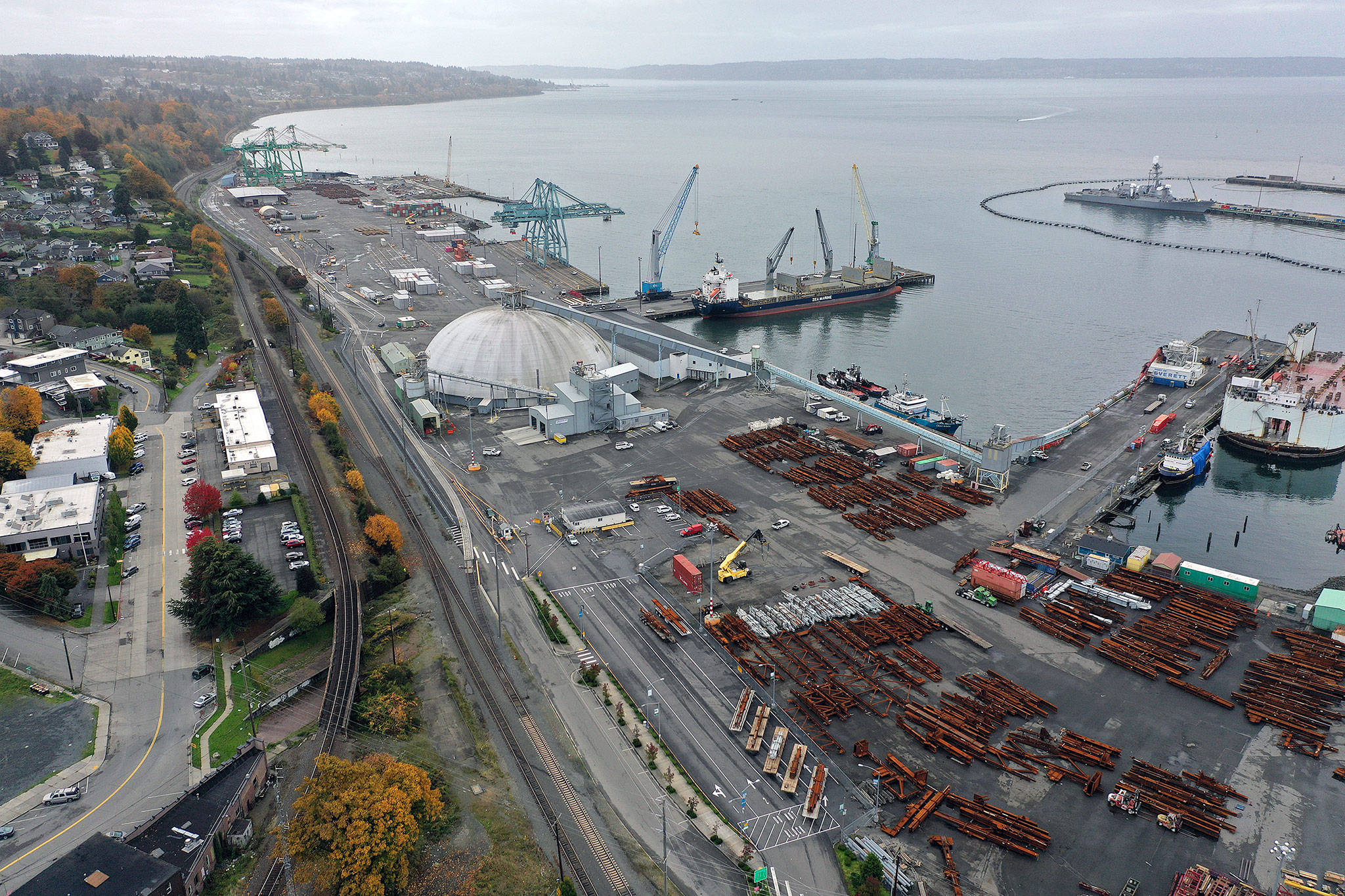 The Port of Everett, looking toward the South Terminal. (Chuck Taylor / The Herald)