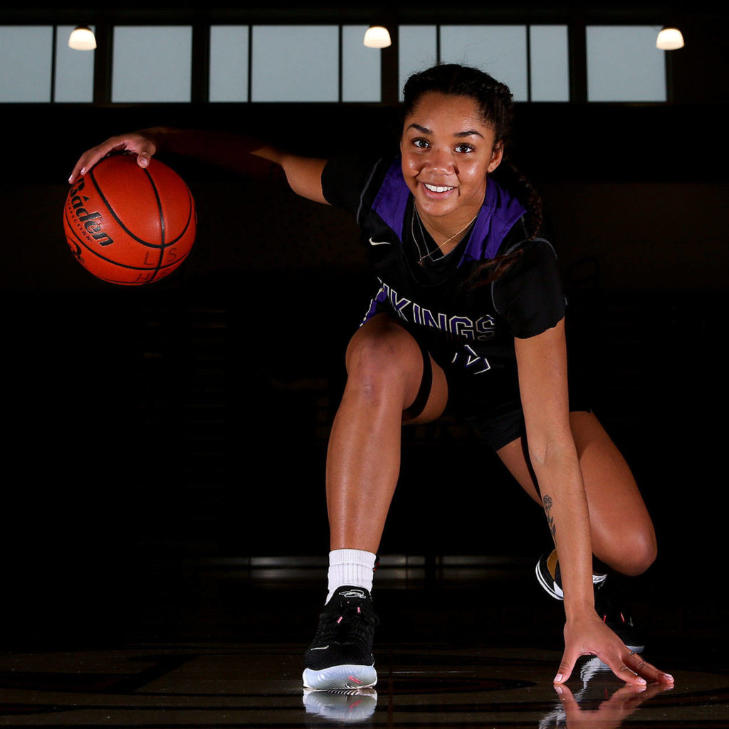 Raigan Reed, a recent Lake Stevens graduate and current Boise State freshman, is The Herald's 2019-20 Woman of the Year in Sports. (Kevin Clark / The Herald)