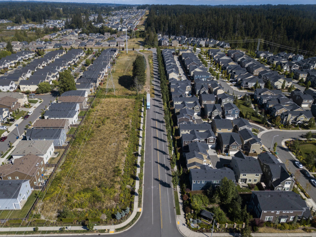 A view of 43rd Avenue on the northern side of the divide between subdivisions and rural properties. (Olivia Vanni / The Herald)