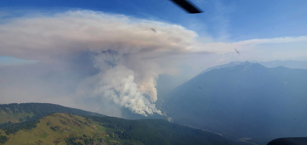 The Downey Creek Fire has grown to an estimated 1000 acres. (United States Department of Agriculture)