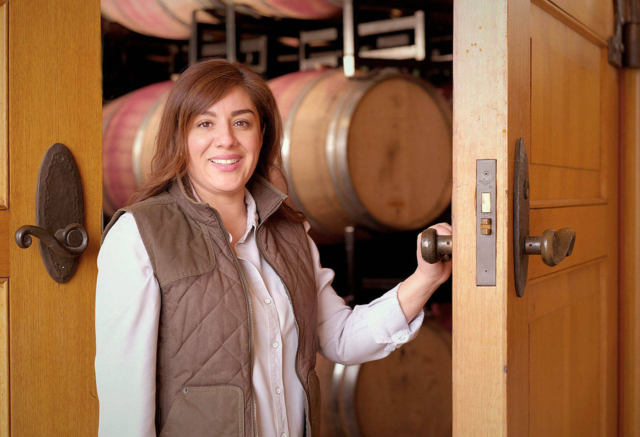 Amy Alvarez-Wampfler, co-winemaker at Abeja in Walla Walla, was in charge of 10,000 barrels of chardonnay during her time at Columbia Crest. (Abeja)