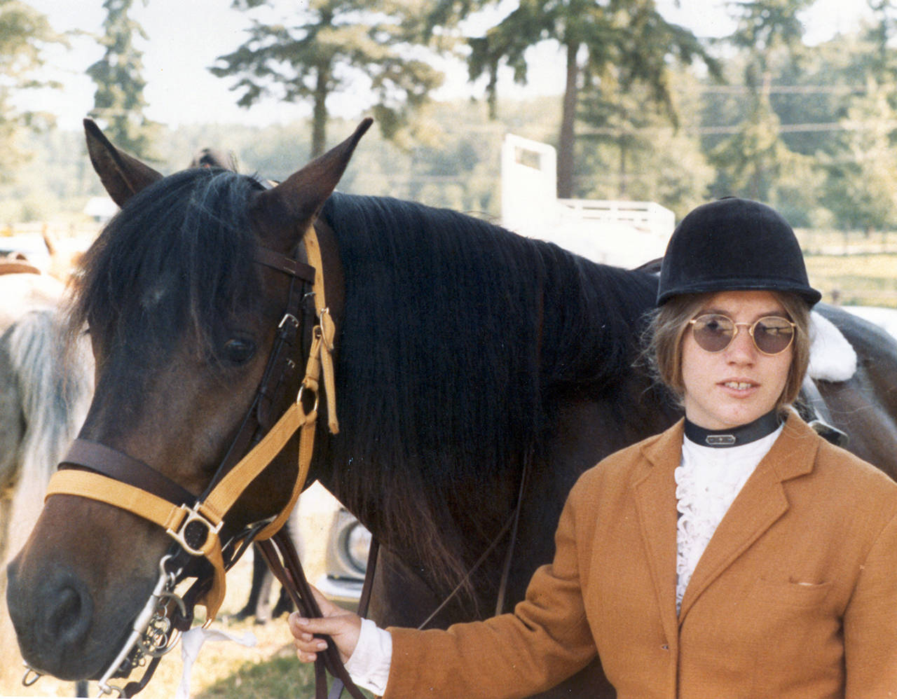 Jody Loomis with her horse in 1972. (Snohomish County Sheriff's Office)