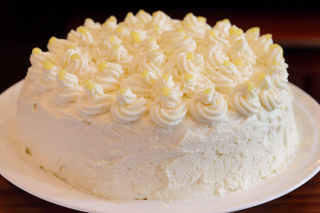 Lemon Mascarpone Layer Cake, photographed Wednesday, Aug. 26, 2020. (Hillary Levin/St. Louis Post-Dispatch/TNS)