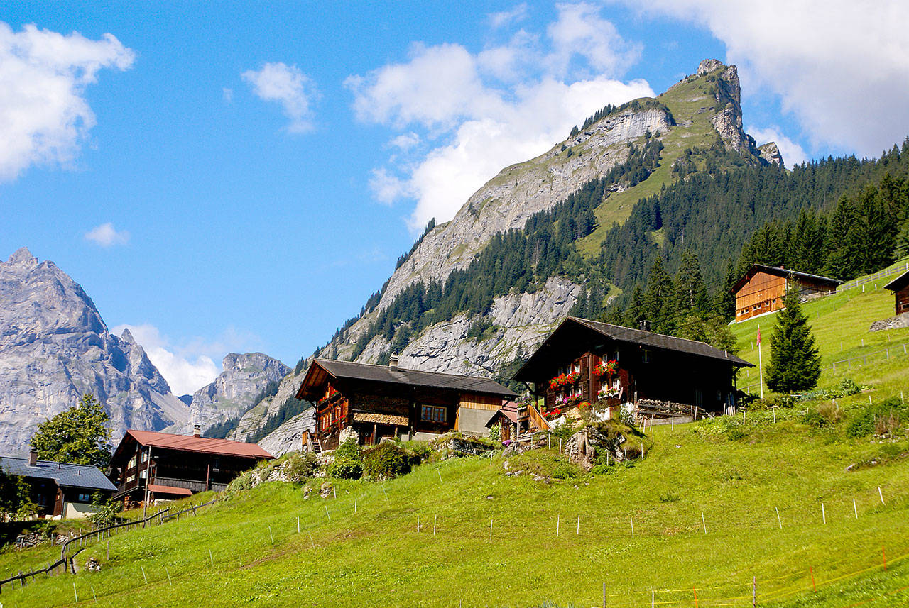 Gimmelwald, Switzerland, survives as a farming village because it's located in a government-designated avalanche zone. (Dreamstime)